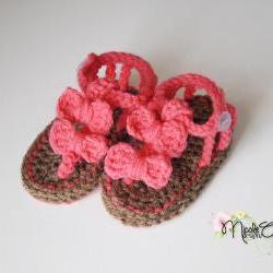 Baby Crochet Bow Sandals